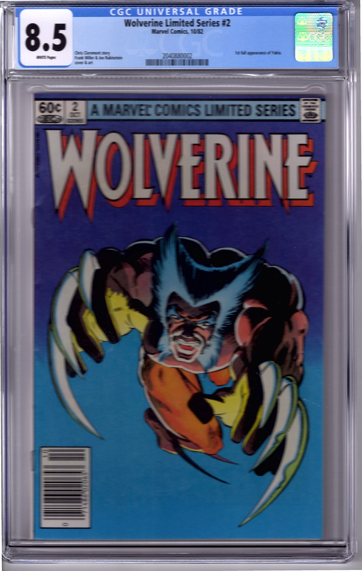 Wolverine Limited V1#2 CGC 8.5
